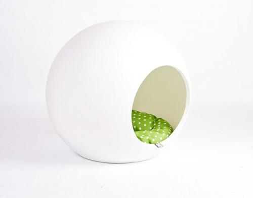 bubble color blanco casilla cama para perro gato