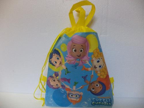 bubble guppies fiestas 30 morralitos dulceros piñatas bolo