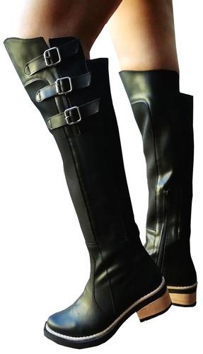 bucaneras elastizadas, botas caña alta