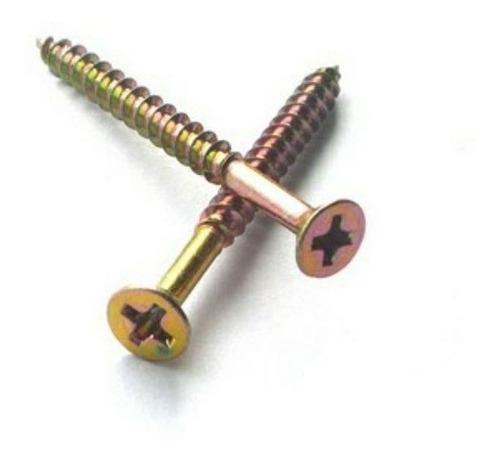 bucha 8mm com anel + parafusos chip phillips - 100 peças