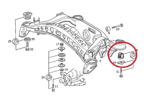 bucha agregado traseiro mercedes e240 1997-2002 original