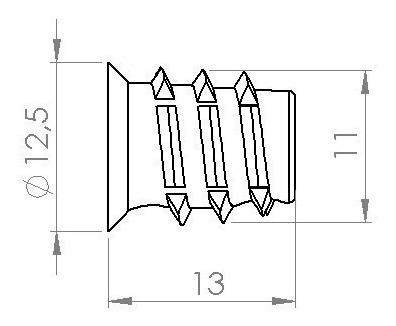 bucha americana p/madeira inserto rosca postiça 10pcs 1/4x13
