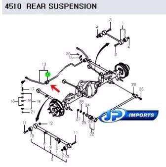 bucha barra estabilizadora traseira jg actyon sport jp001126