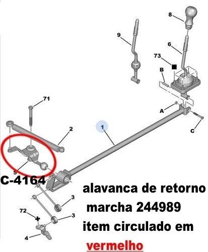 bucha c/ suporte trambulador marcha peugeot berlingo 1.6 16v