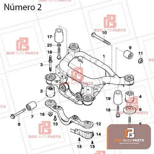 bucha eixo traseiro bmw serie 3/z4 e46/e85 33176770788