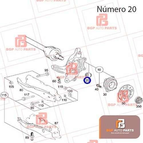 bucha eixo traseiro mercedes classe c/clk/e/glk 2043520027