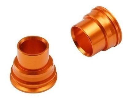 bucha espaçadora de roda dianteira zeta - ktm - laranja
