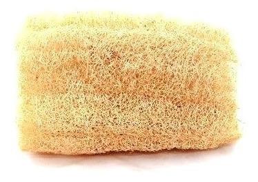 bucha vegetal e natural de pedaço para o banho - 6 unidades