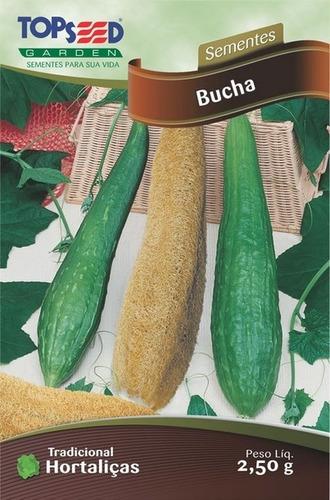 bucha vegetal - kit 3 pct = + de 100 sementes -frete grátis