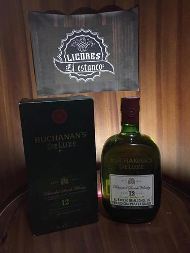 buchanan's 12 años deluxe  1 litro 100%original