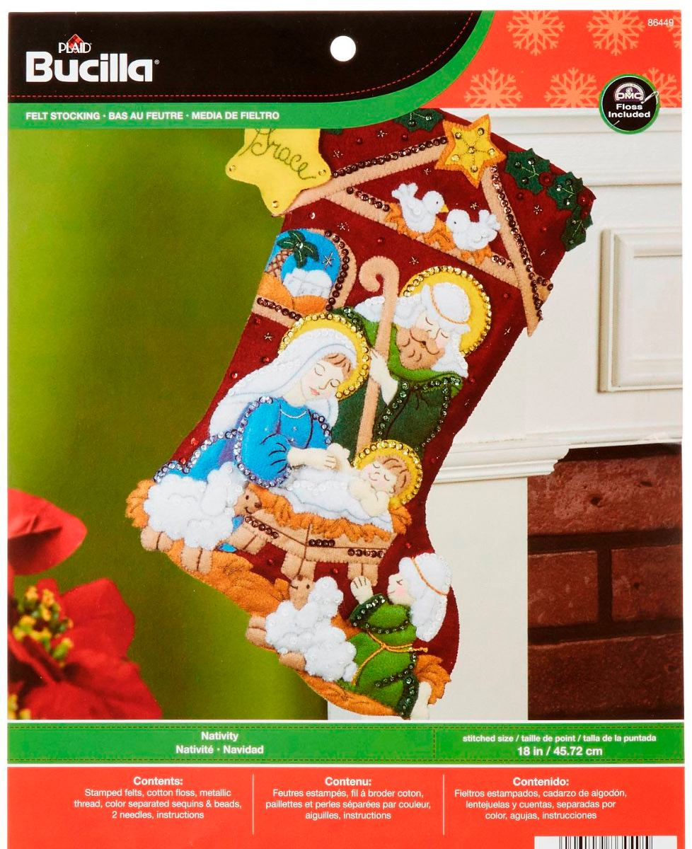 Bucilla Original. Bota Navideña. Navidad - $ 1,150.00 en Mercado Libre