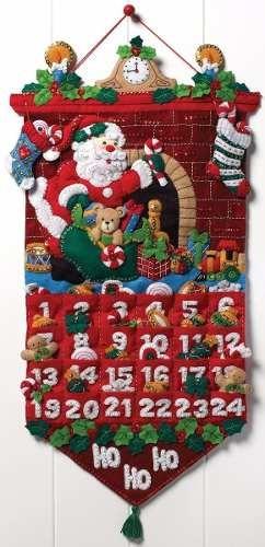 bucilla original calendario d adviento.13x25  pulg. navidad