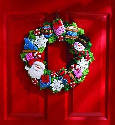 bucilla original corona/guirnalda figuras navideñas.navidad