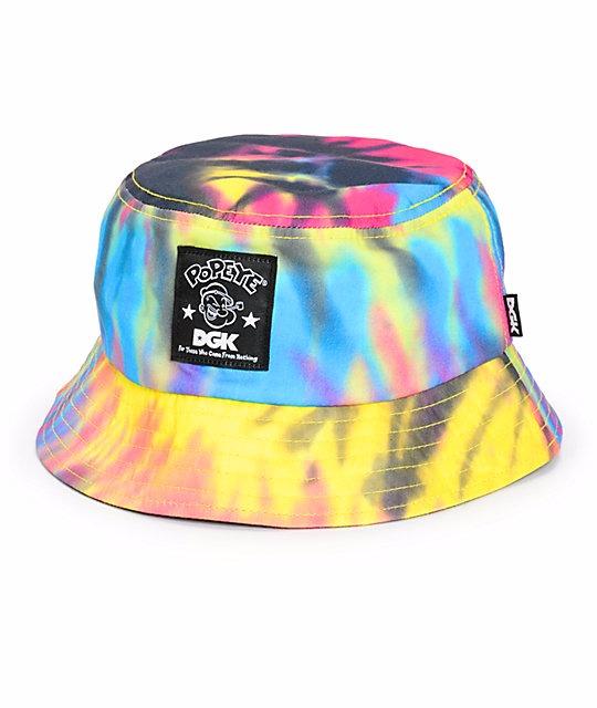 Bucket Bucket Dgk X Popeye Tie Dye Bucket Hat bd84257797c