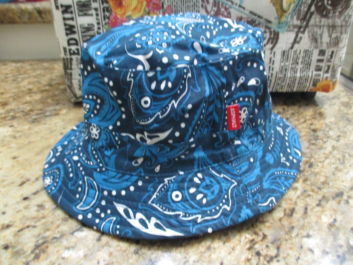 d1ffad3420e bucket hat asphalt yacht club chapéu reversível bandana. Carregando zoom.