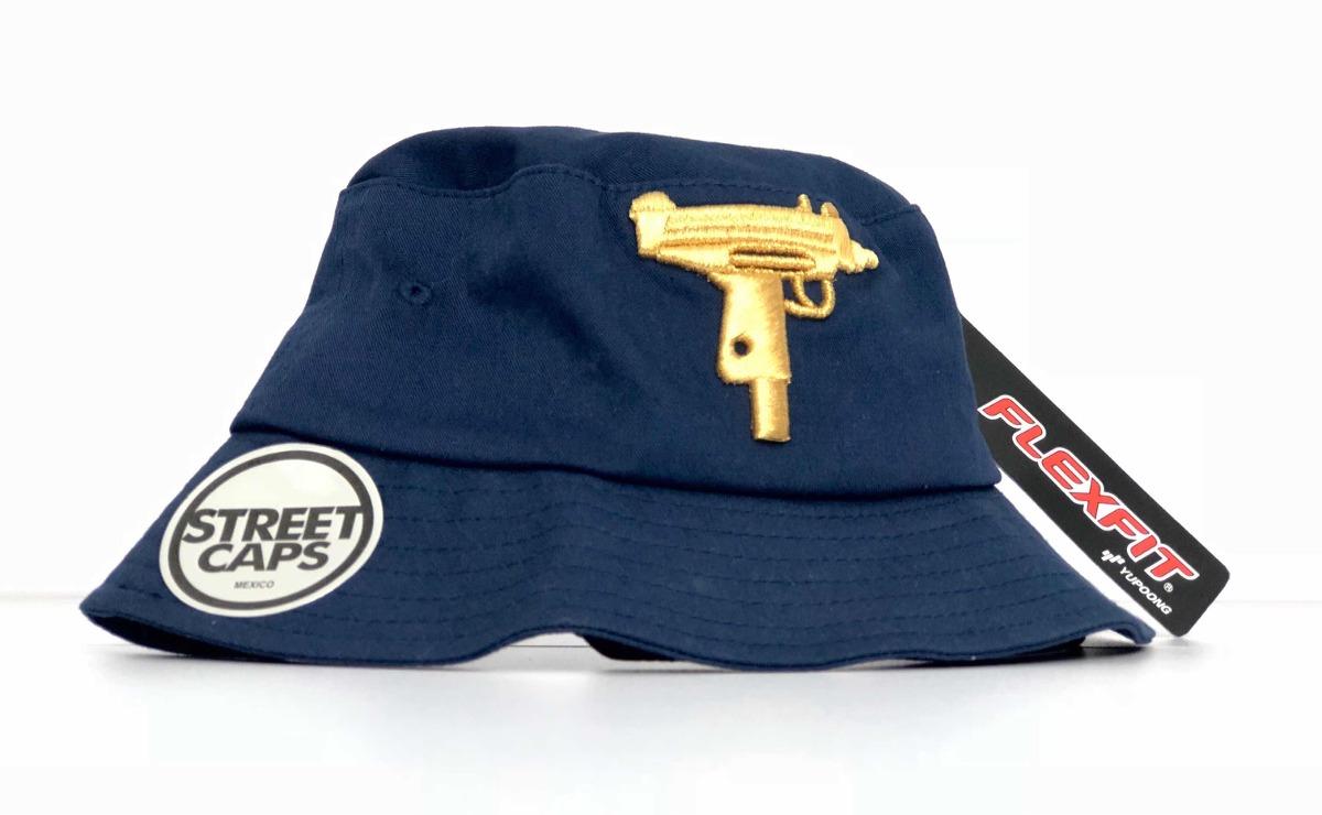 Buckets Hats Yupoong Flexfit Uzi Dorado Metalizado