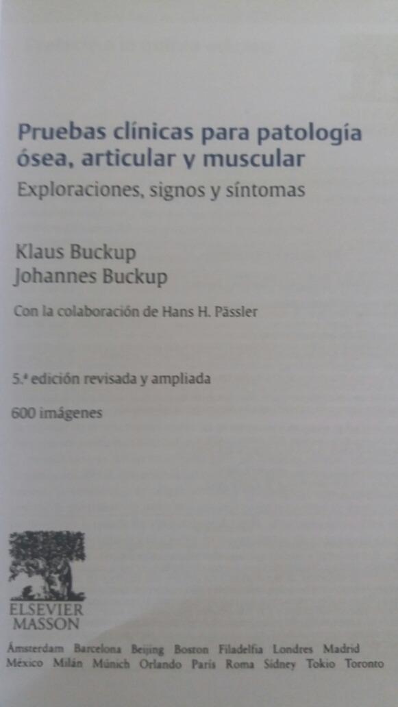 Buckup Pruebas Clinicas Para Patologia Osea Articular