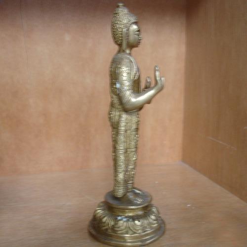 buda em pé peça em bronze importado da índia