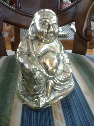 buda en bronce macizo