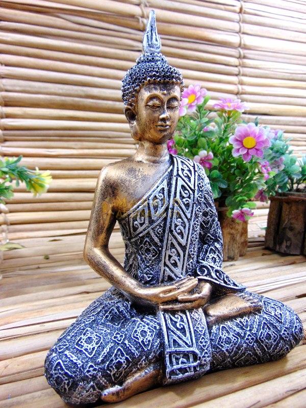 Buda Hindu Tailandes Decoração Felicidade Resina Estatua ...