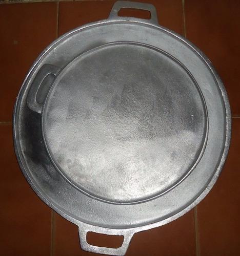 budare de aluminio colado para arepas. 27 cm 100% calidad.