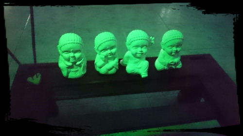budas bebe de yeso brillan en la oscuridad 13 cms