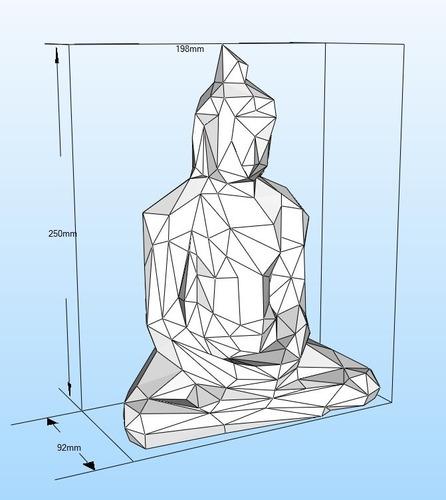 buddha buda papercraft pepakura origami papiroflexia