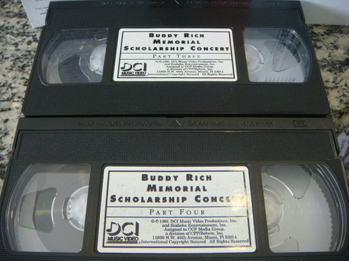 buddy rich memorial scholarship concert vol 3 & 4 (vhs)