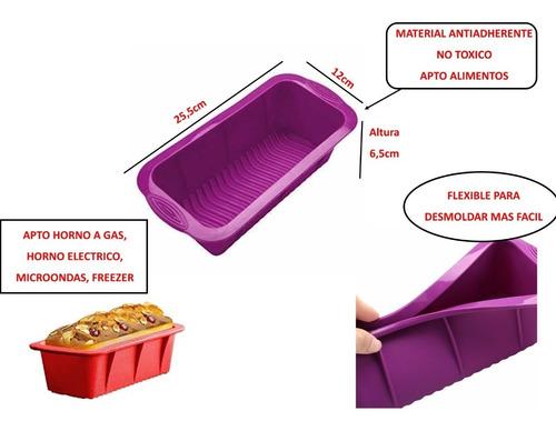 budinera molde de silicona pan goma apto horno reposteria
