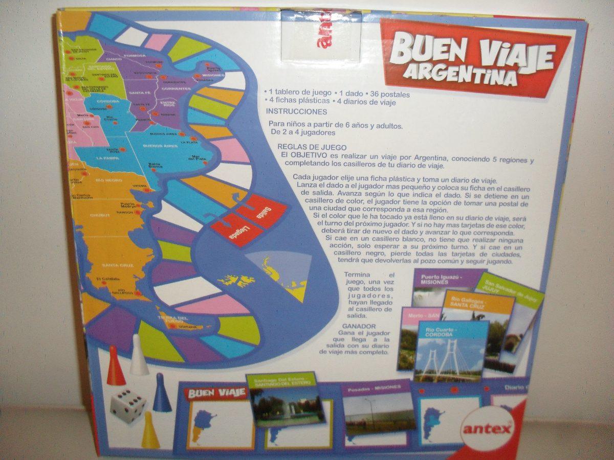 Buen Viaje Argentina Juego De Mesa Gabym 390 00 En Mercado Libre