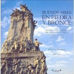 buenos aires en piedra y bronce . español / ingles.
