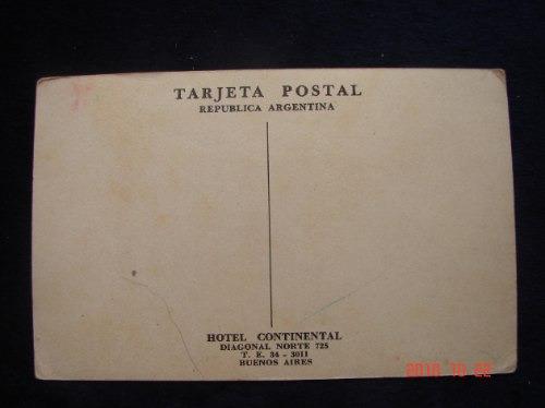 buenos aires, hotel continental.  antigua postal.