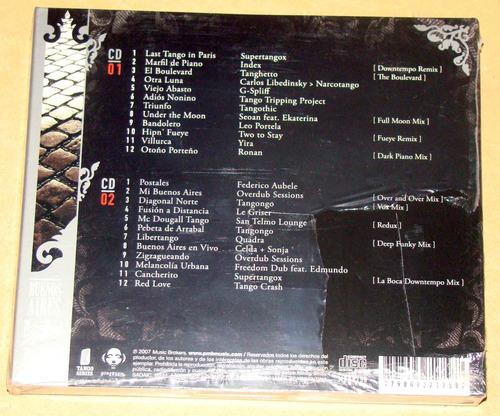 buenos aires paris electronic tango anthology 2 cds sellado