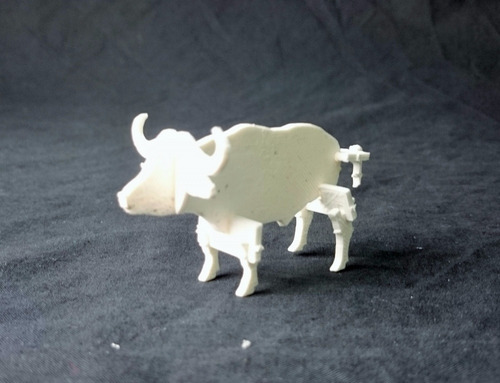 bufalo selva armar. juguete didáctico imprimir 3d