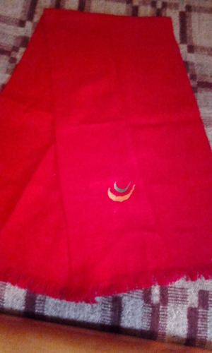 bufanda  acrilico para caballero color rojo importada nueva