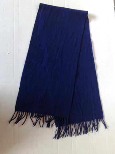 bufanda azul paño impecable!