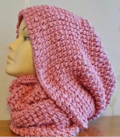 bufanda capucha a crochet