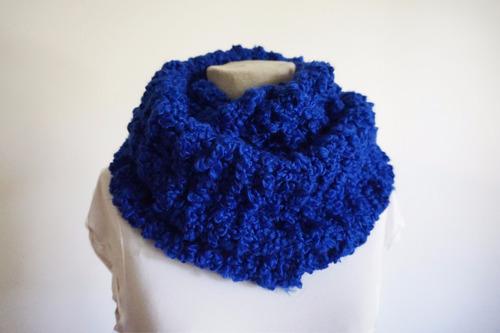 bufanda circular boucle varios colores tejida a mano