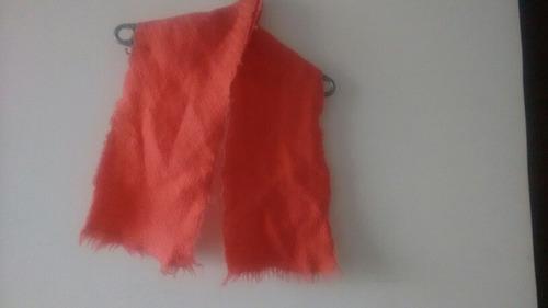 bufanda corta color rosado salmón
