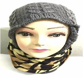 bufanda cuello le sak cebra 1- miel