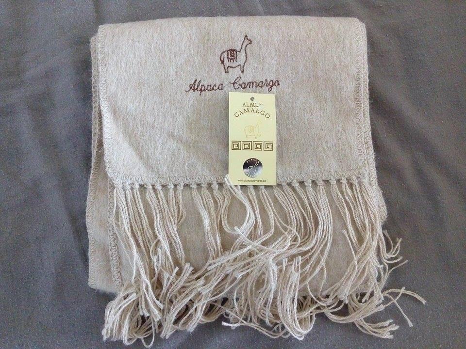 baratas para descuento fcbb5 63b6c Bufanda De Alpaca Peruana Camargo . Color Beige