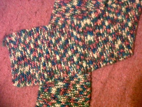 bufanda de colores tejida a mano!