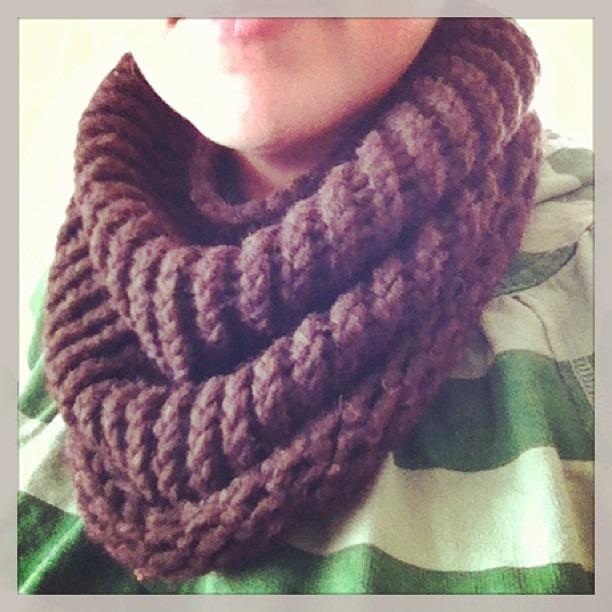 bufanda de cuello tejida lana 100%