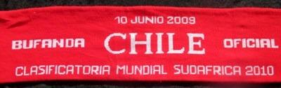 bufanda de futbol eliminatorias chile bolivia
