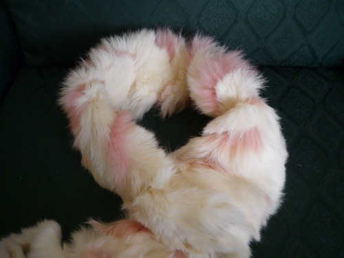 bufanda de piel de conejo( legitima )arg.