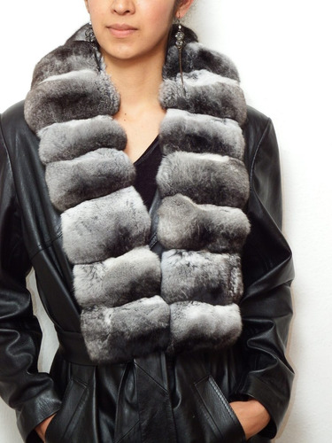bufanda en genuina piel de chinchilla