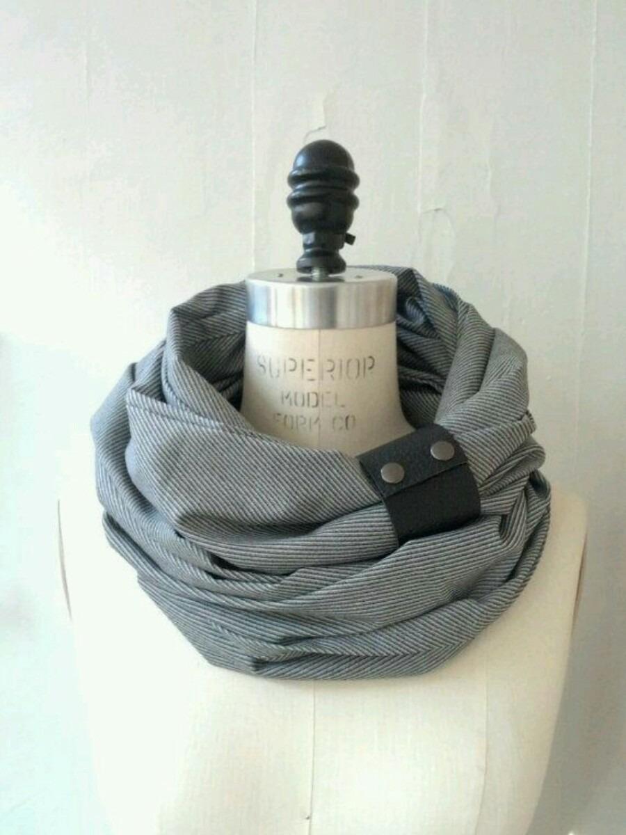 bufanda extra larga con botones cierres variedad de modelos