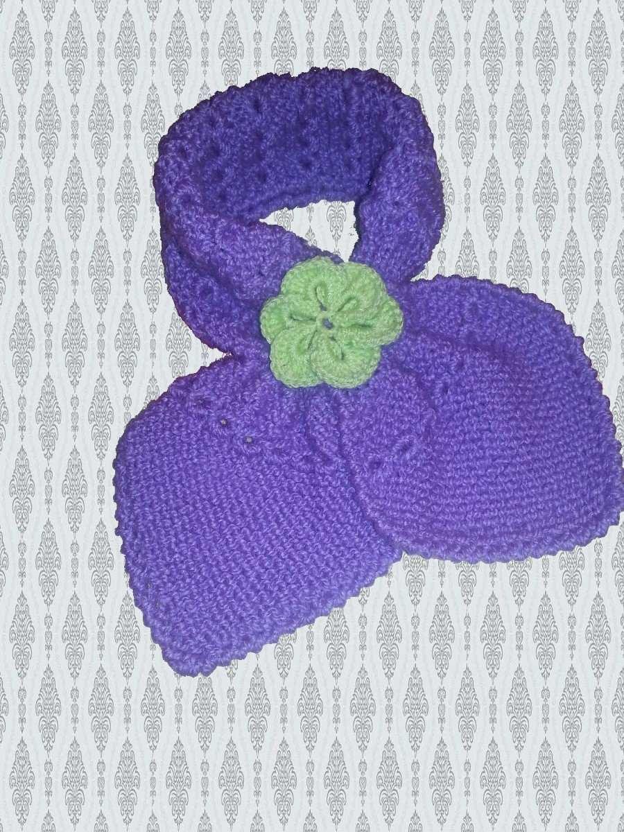 bufanda gatito o cruzada para nena/mujer tejida a mano