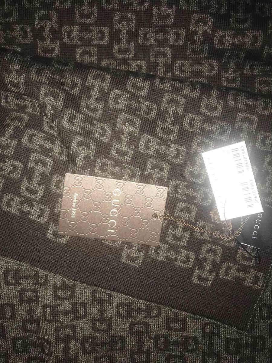 caab846fd bufanda gucci unisex café claro y oscuro 100% lana nueva. Cargando zoom.