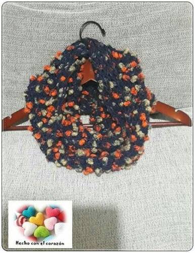 bufanda infinita a crochet!!